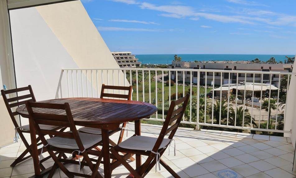 Sea view Naturism Apartment rental in Cap d'Agde : Natura Beach Residence